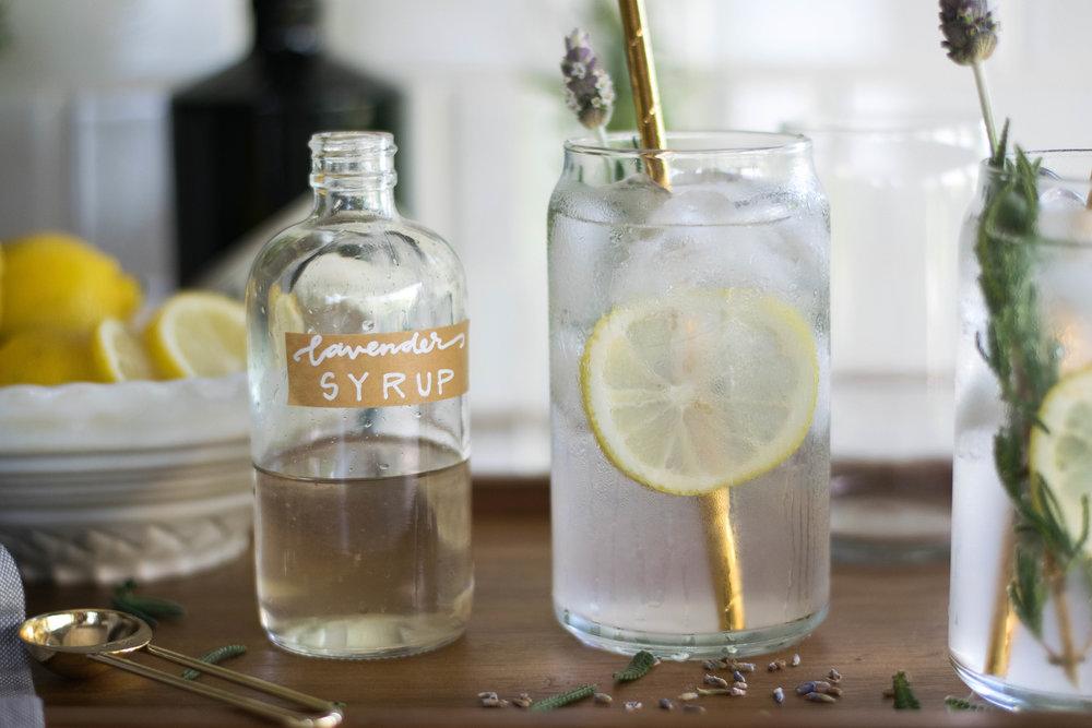 Lavender Lemon Tom Collins | All Purpose Flour Child