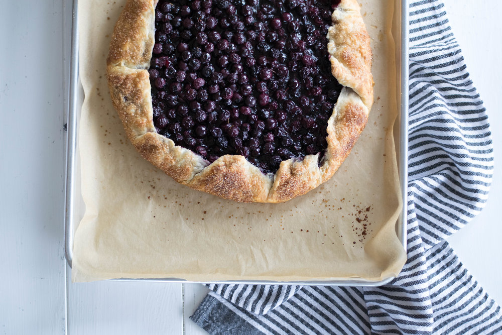 Blueberry Goat Cheese Galette | All Purpose Flour Child