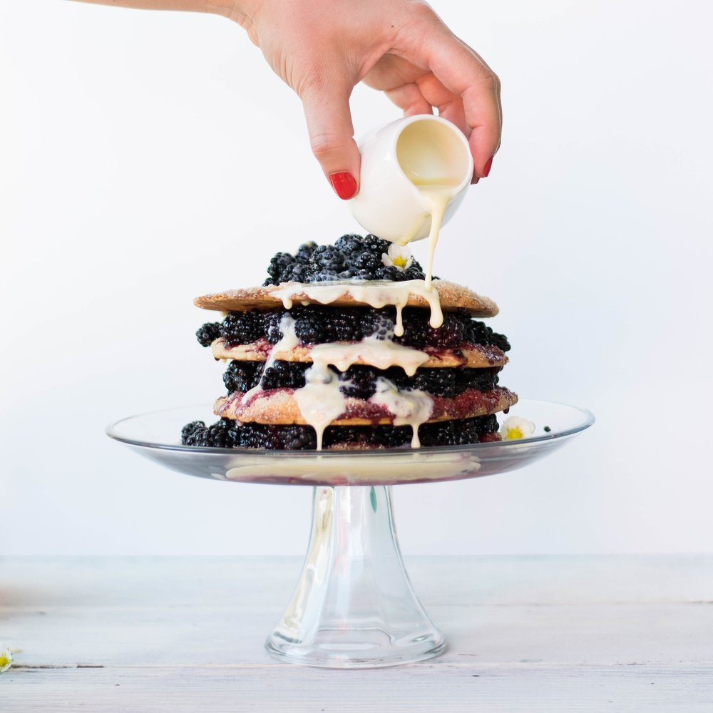 Blackberry Stack Pie with Lemon Crème Anglaise