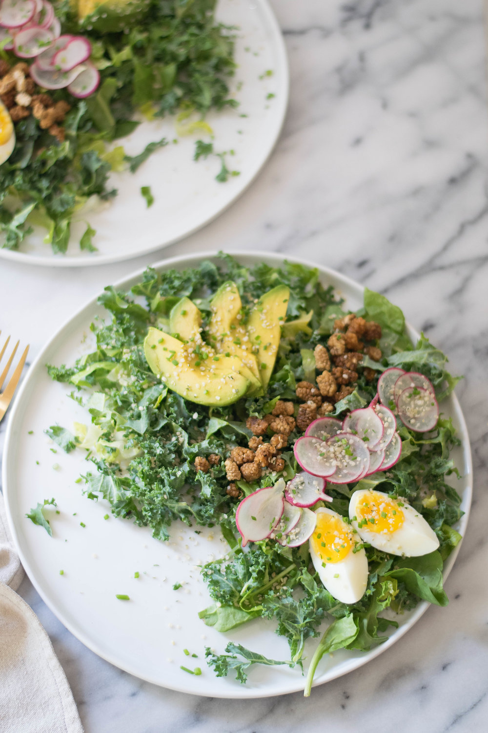 Herby Superfood Salad + A Simple Vinaigrette | All Purpose Flour Child