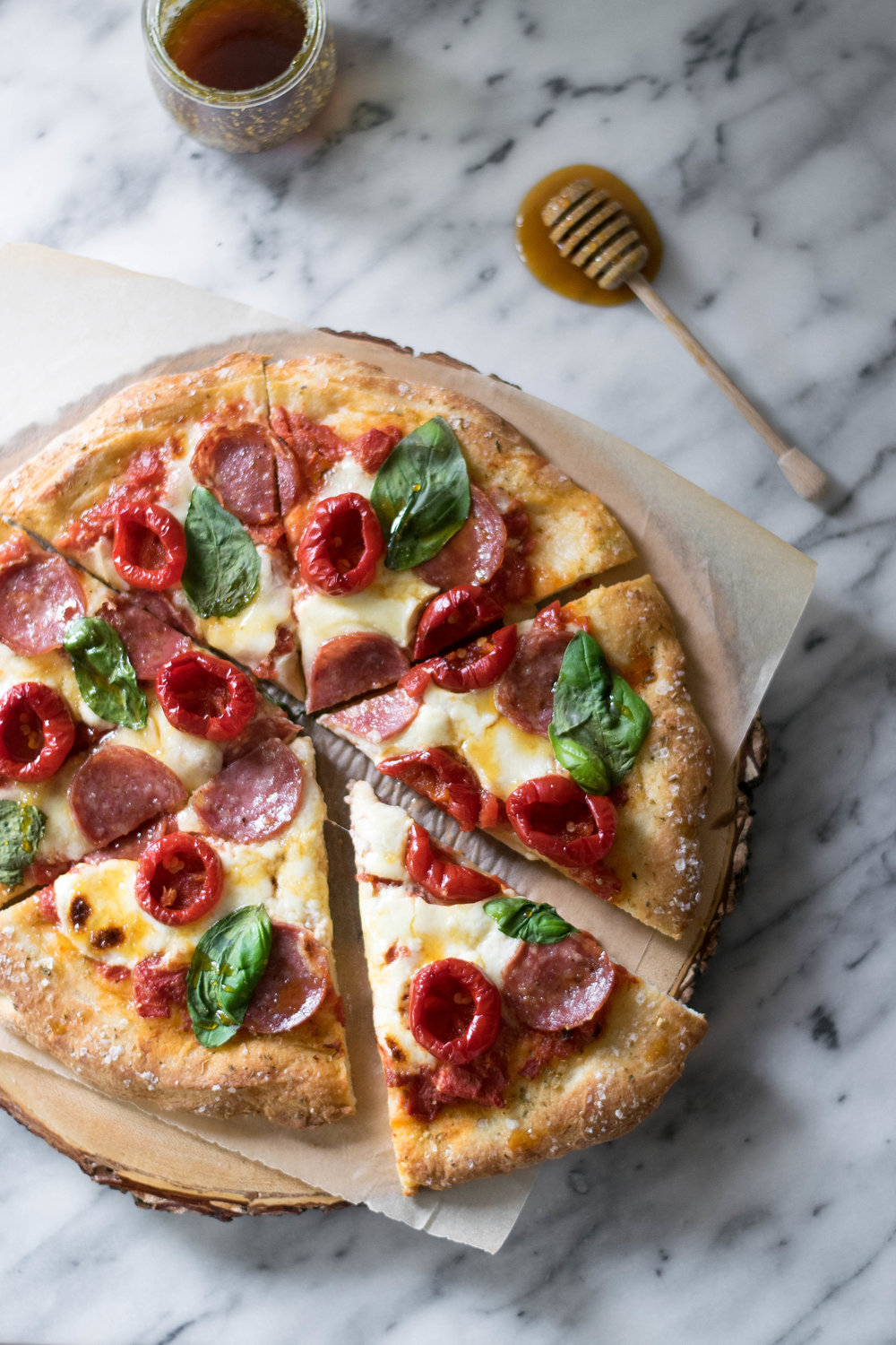 Sweet + Spicy Bee Sting Pizza | All Purpose Flour Child