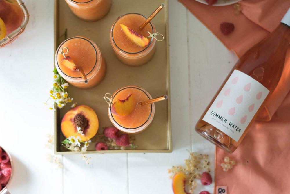 Peach + Raspberry Frozé | All Purpose Flour Child