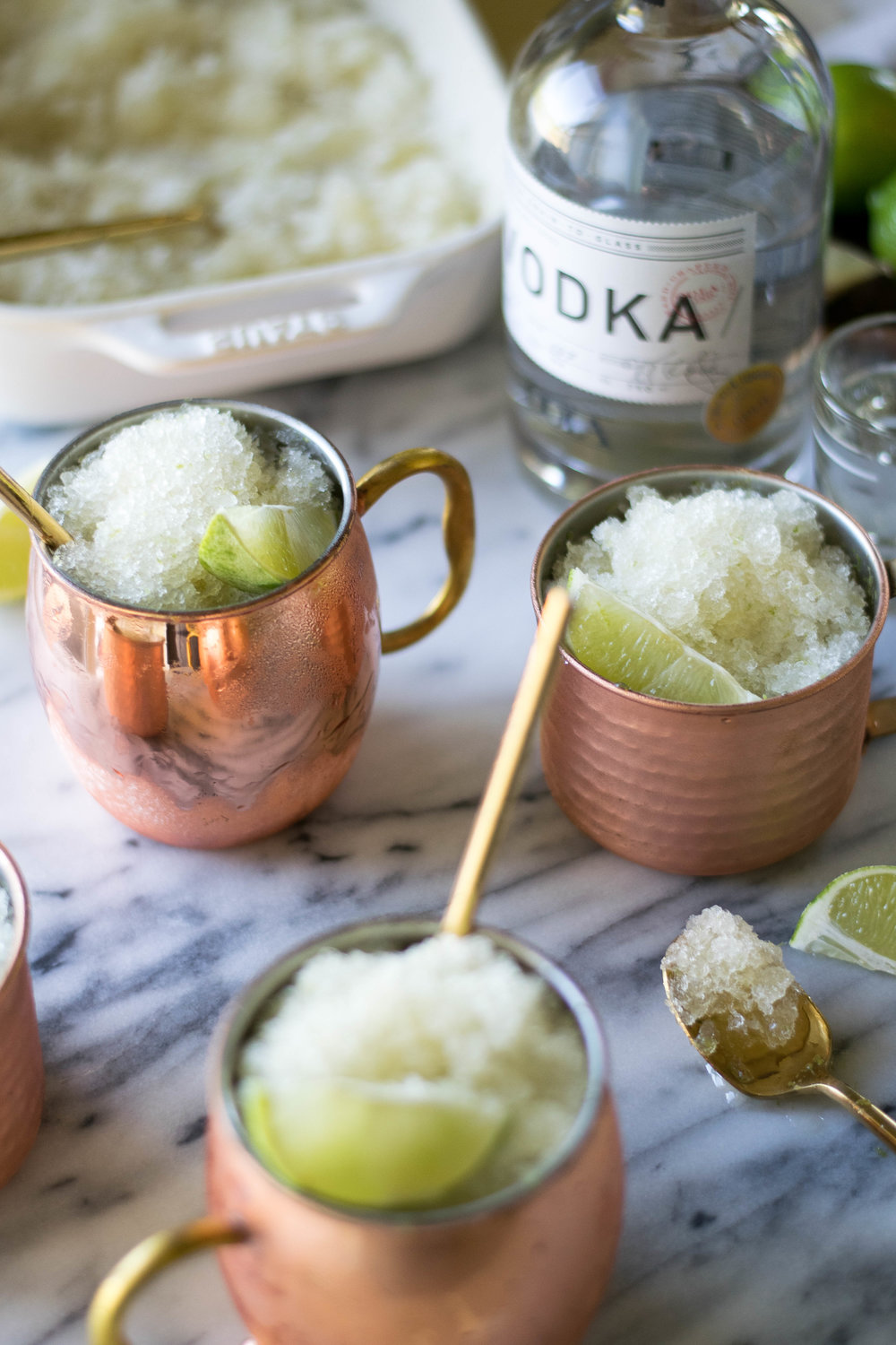 Moscow Mule Granita | All Purpose Flour Child