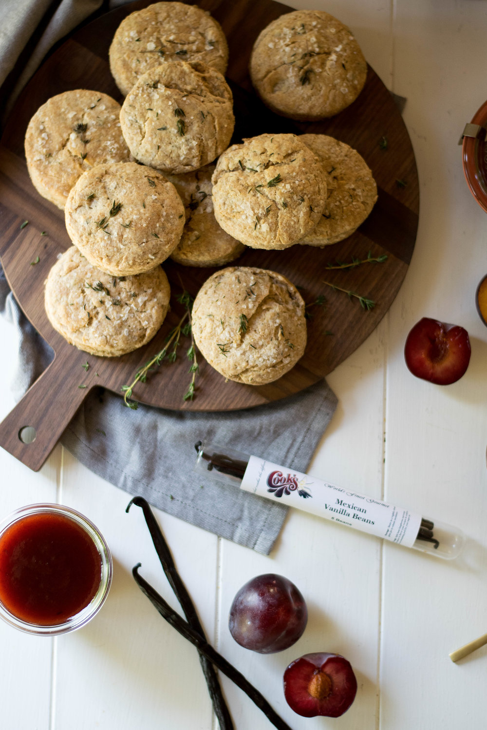 Vanilla Plum Butter With Thyme Spelt Biscuits // Sponsored By Cook Flavoring Company | All Purpose Flour Child