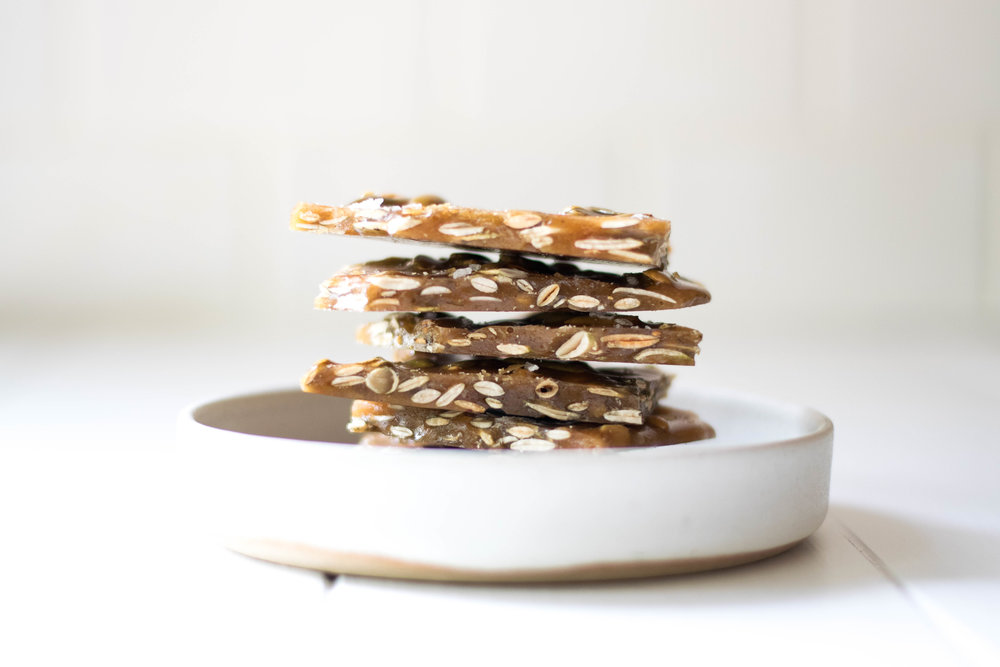 Pumpkin Spiced + Sage Pumpkin Seed Brittle | All Purpose Flour Child