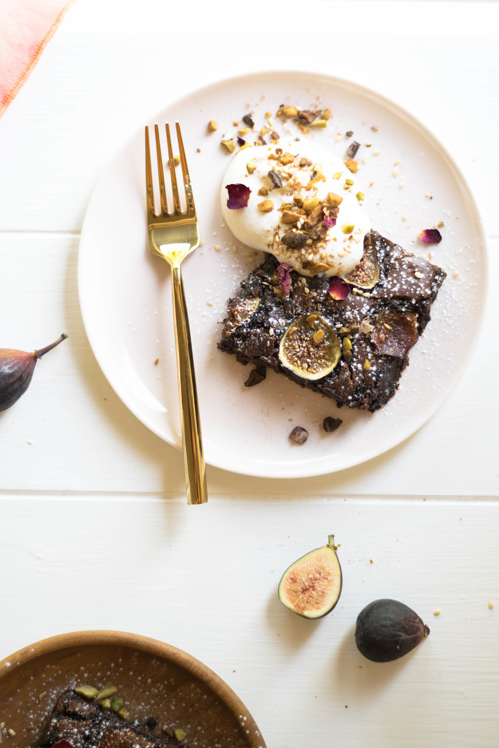 Figgy Brownies with Cacao Nib + Rose Dukkah Sprinkles | All Purpose Flour Child