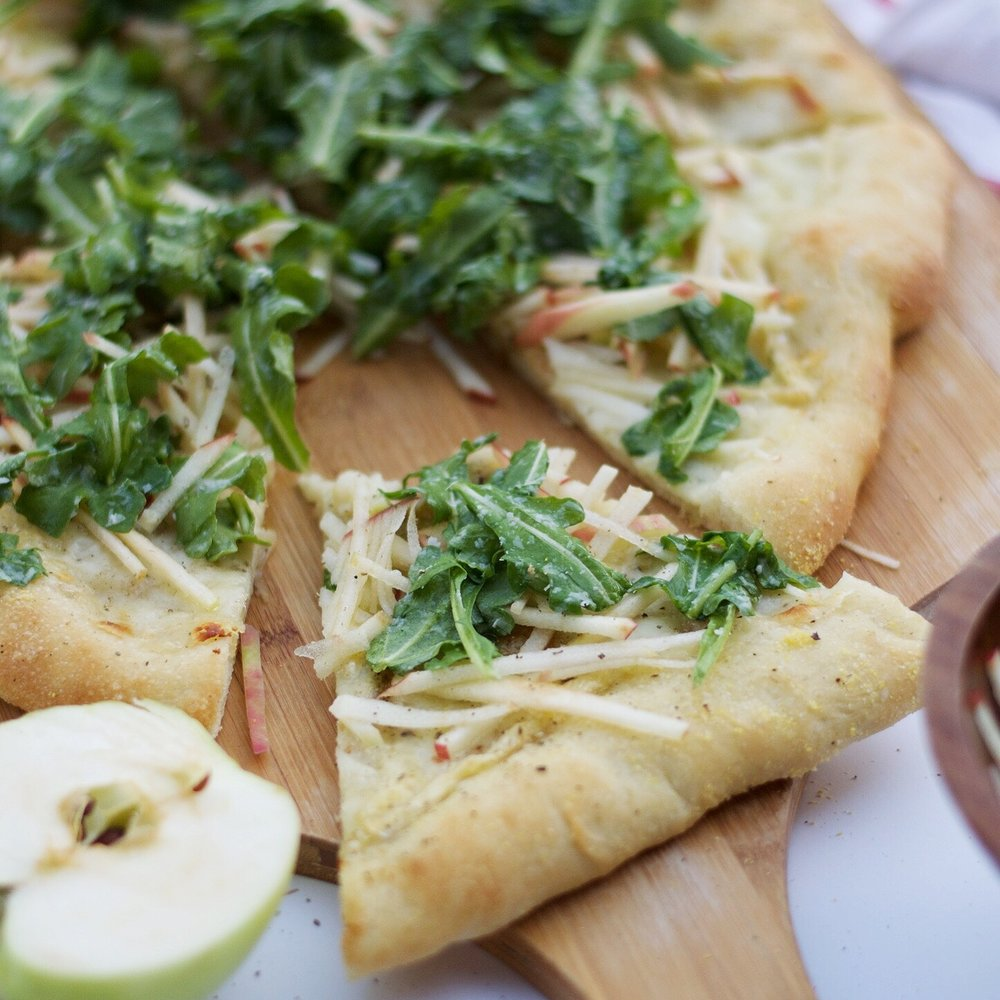 Apple, Sage, + Brie Pizza