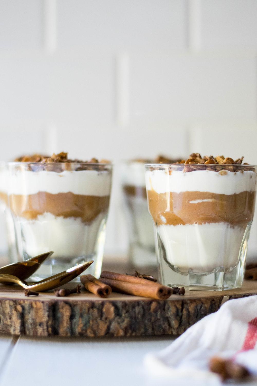 Five Spice Applesauce + Yogurt Parfaits | All Purpose Flour Child