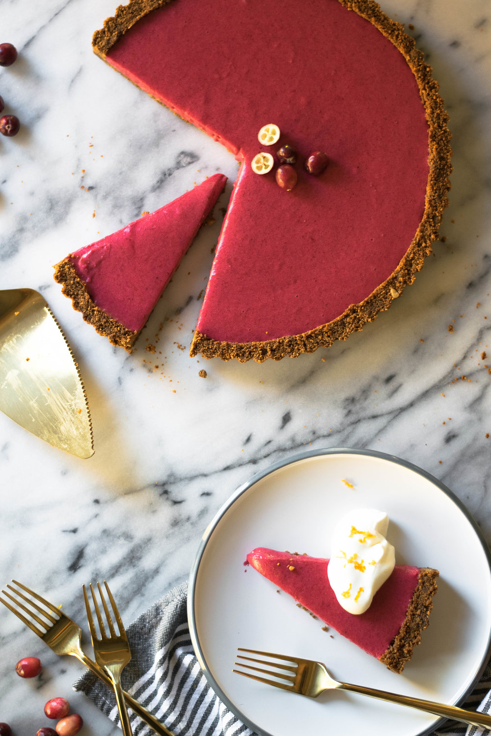 Cranberry Orange Curd + Gingersnap Tart | All Purpose Flour Child