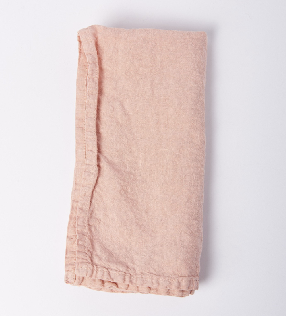 Hawkins NY Blush Simple Linen Napkin