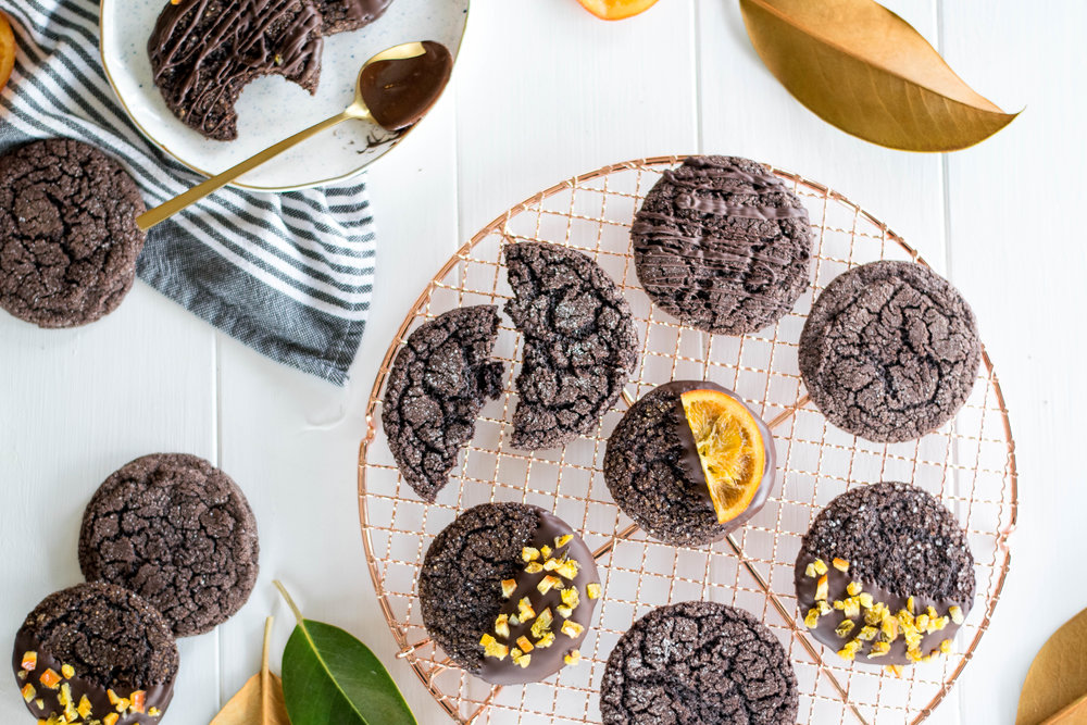 Cocoa + Orange Crackle Cookies | All Purpose Flour Child