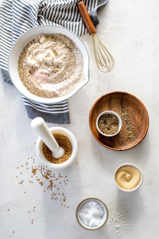Grain-Free Almond Flour Flatbread With Roasted Delicata Squash + Goat Cheese | All Purpose Flour Child