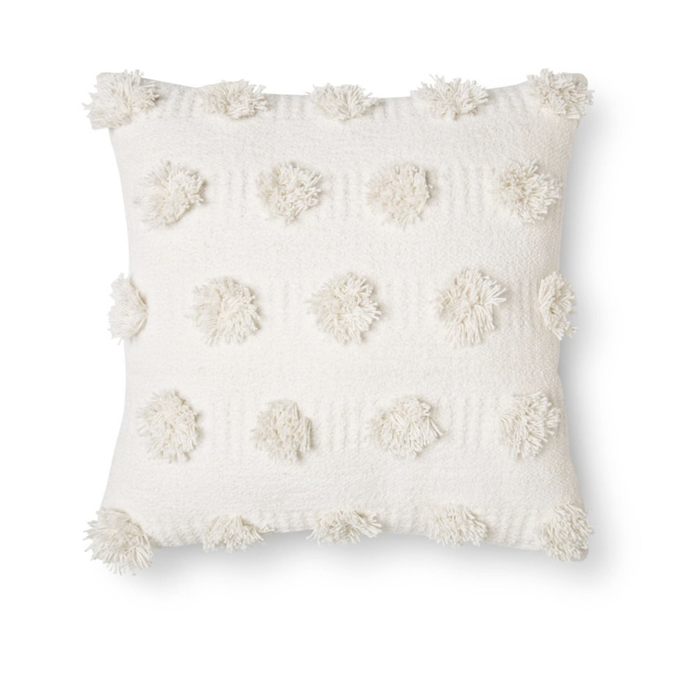 Target Cream Pom Pillow