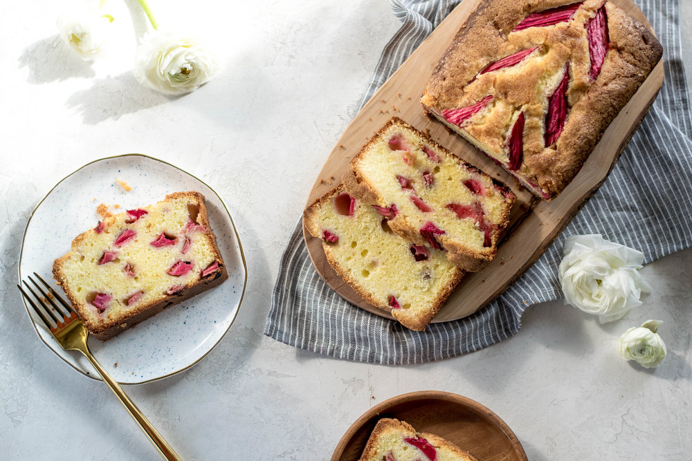 Rhubarb + Almond Pound Cake | All Purpose Flour Child