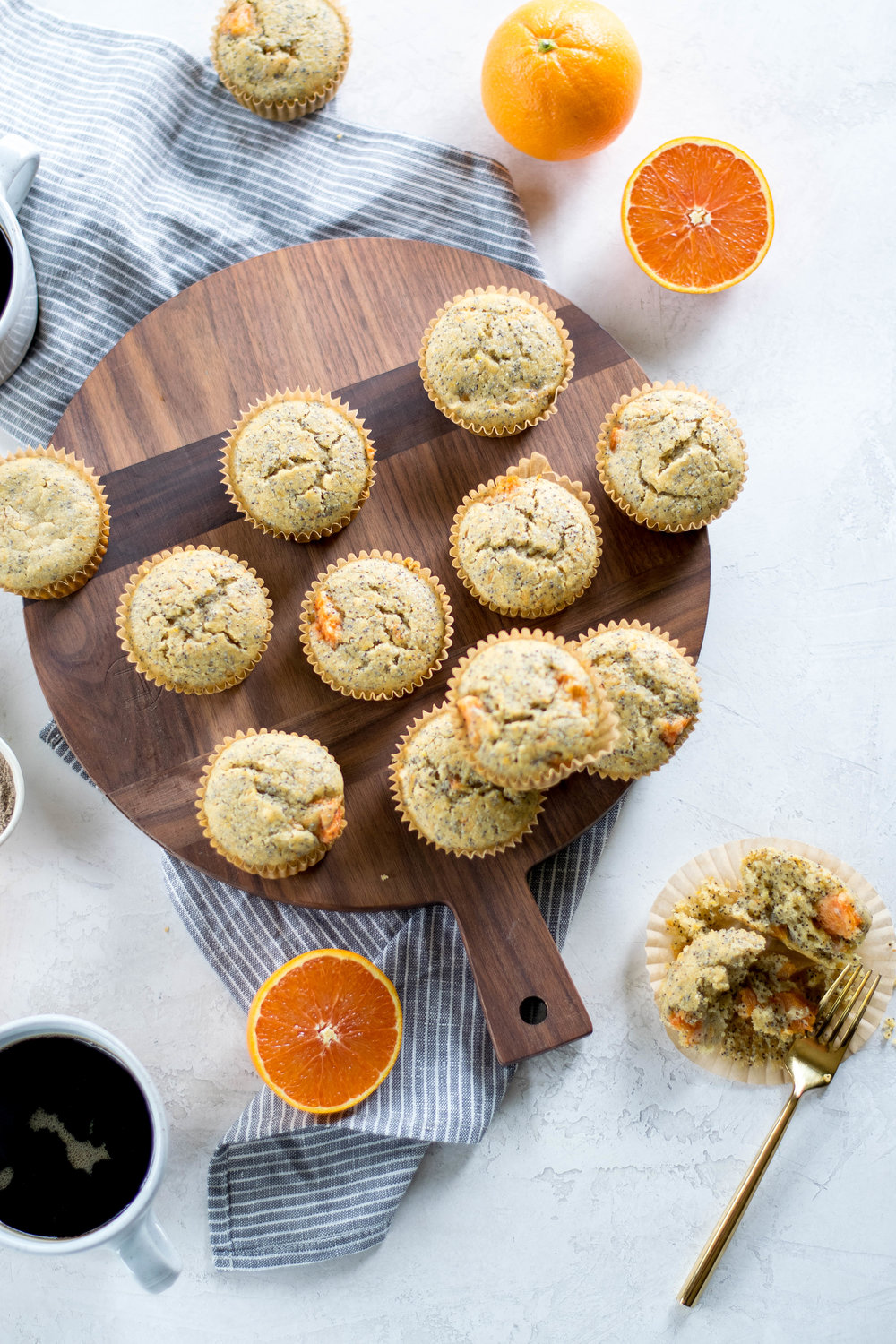 Cardamom + Cara Cara Orange Poppyseed Whole Wheat Muffins | All Purpose Flour Child