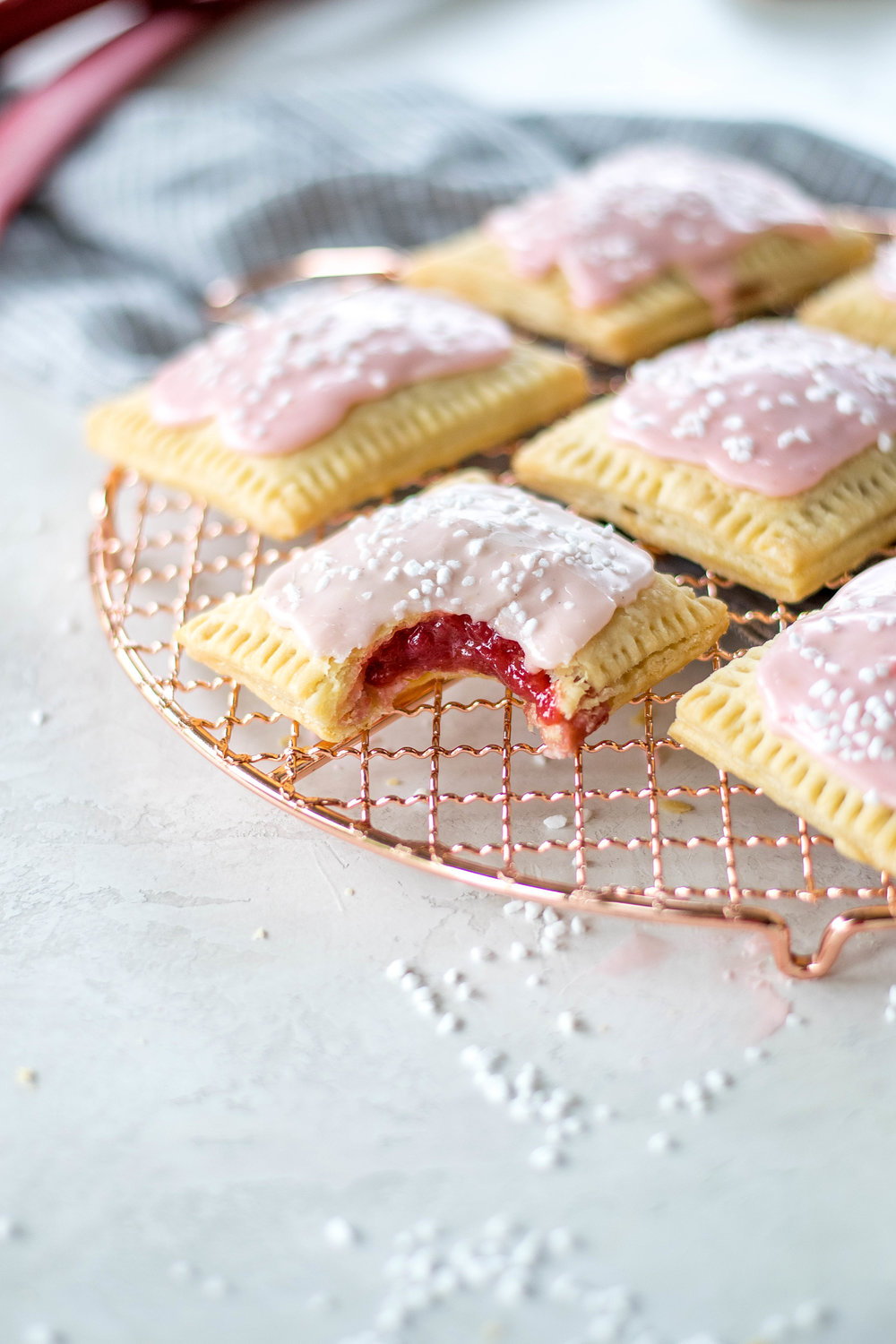 Rhubarb, Ginger, + Goat Cheese Pop Tarts | All Purpose Flour Child