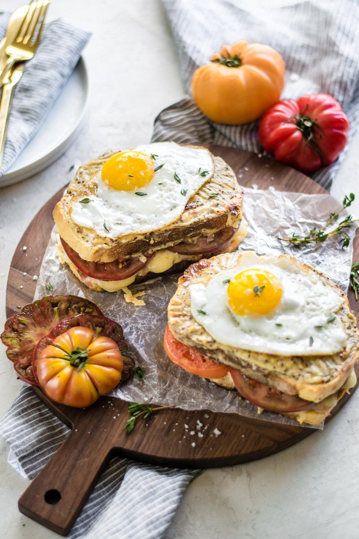 Heirloom Tomato Croque Madame | All Purpose Flour Child
