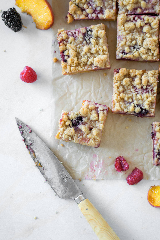 Summer Fruit Cobbler Bars   All Purpose Flour Child