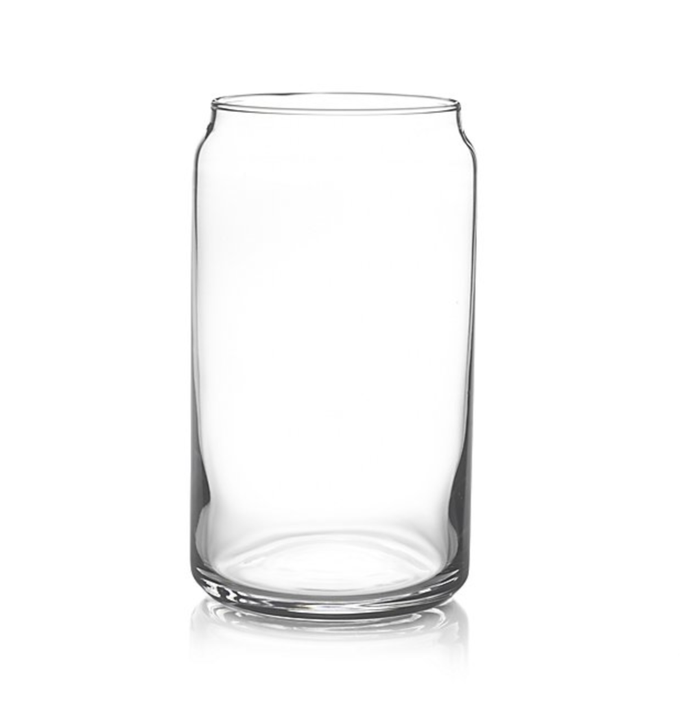 Crate & Barrel Soda Can Glass