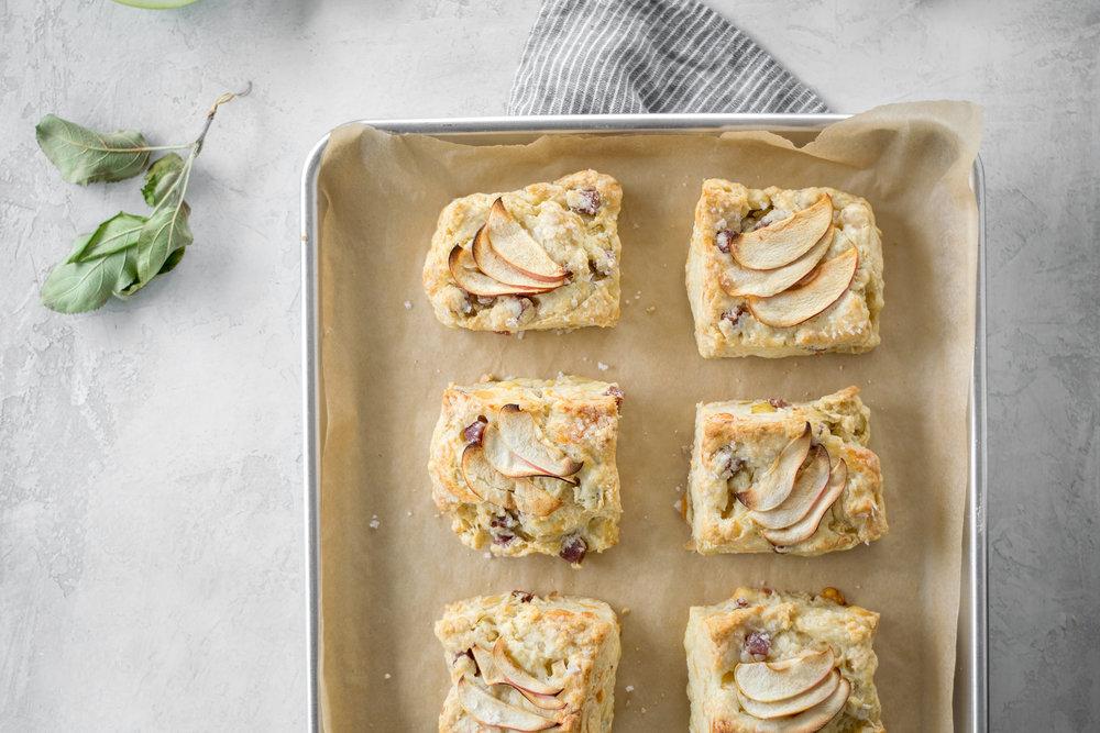 Apple, Brie, + Salami Scones | All Purpose Flour Child