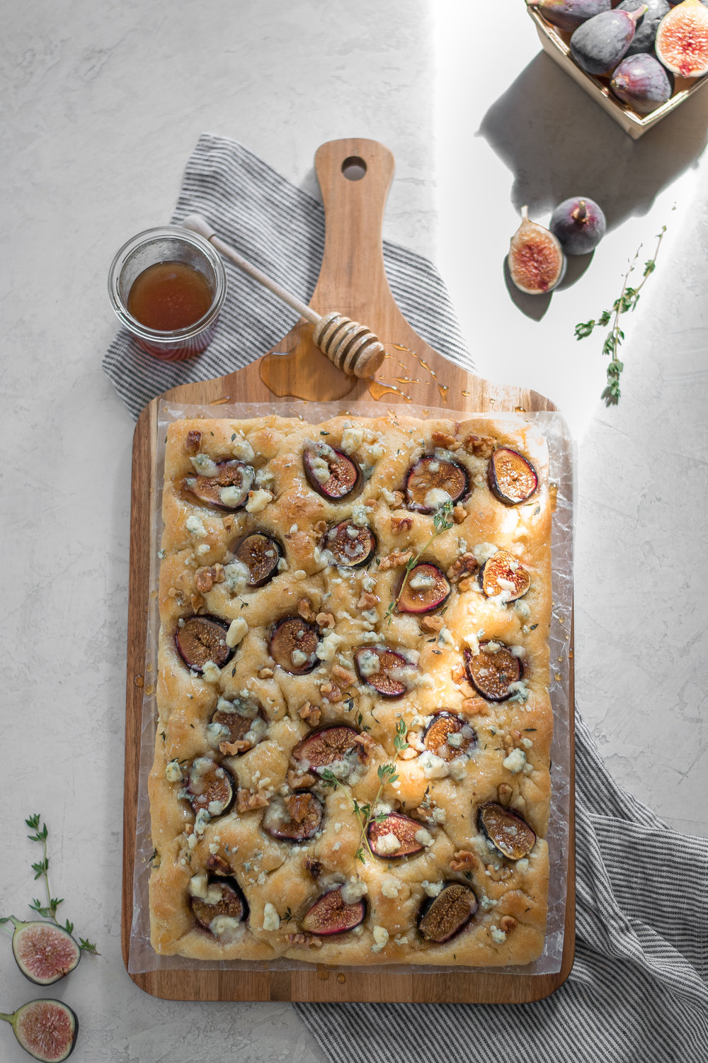 Fig, Gorgonzola, + Walnut Focaccia | All Purpose Flour Child