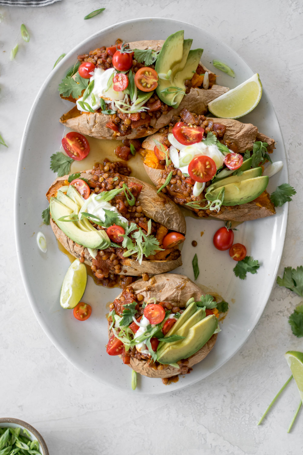 Lentil Chili Stuffed Sweet Potatoes | All Purpose Flour Child