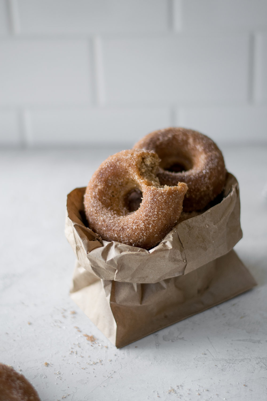 Baked Sour Cream Apple Cider Doughnuts | All Purpose Flour Child