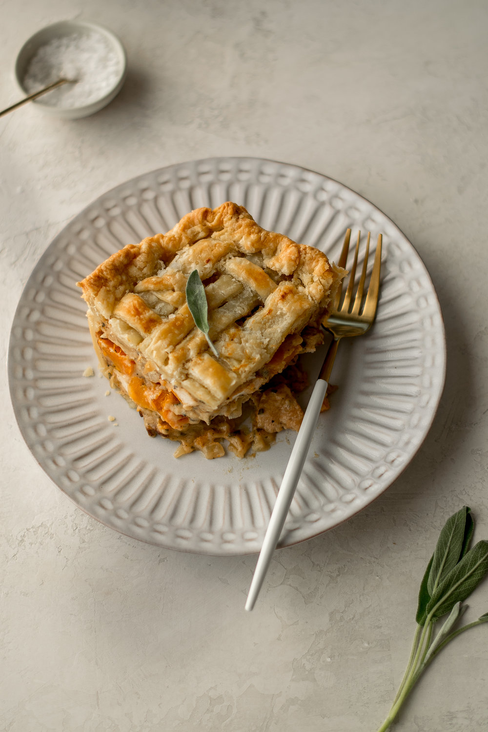 Butternut Squash, Sage, + Bacon Chicken Pot Pie | All Purpose Flour Child