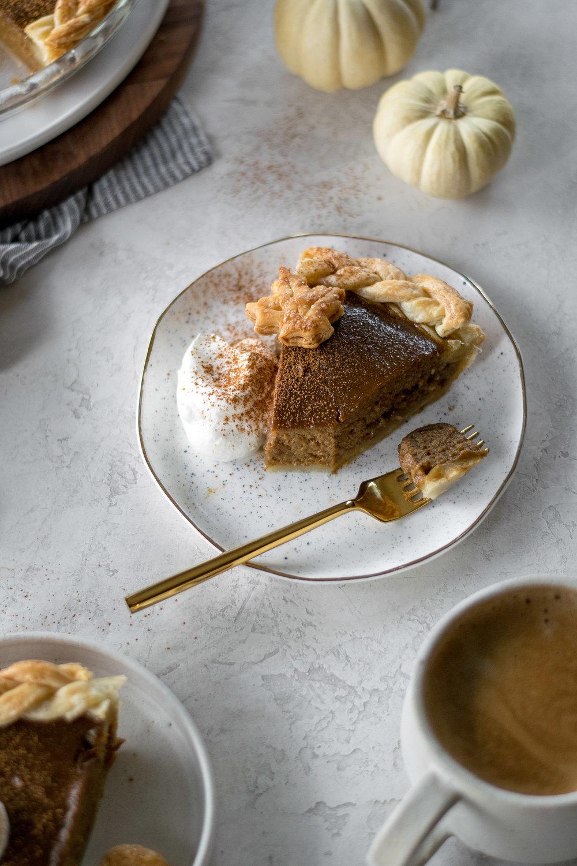 Dirty Chai Pumpkin Pie | All Purpose Flour Child