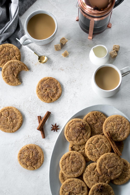Brown Butter Hawaij-Spiced Snickerdoodles   All Purpose Flour Child
