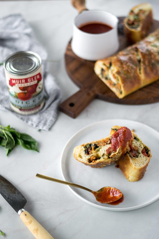 Broccoli Rabe + Caramelized Fennel Sausage Stromboli | All Purpose Flour Child
