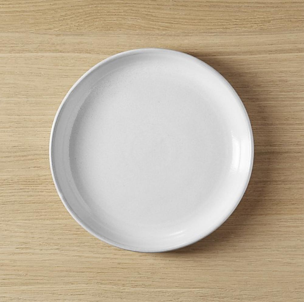 CB2 Black Clay Salad Plate