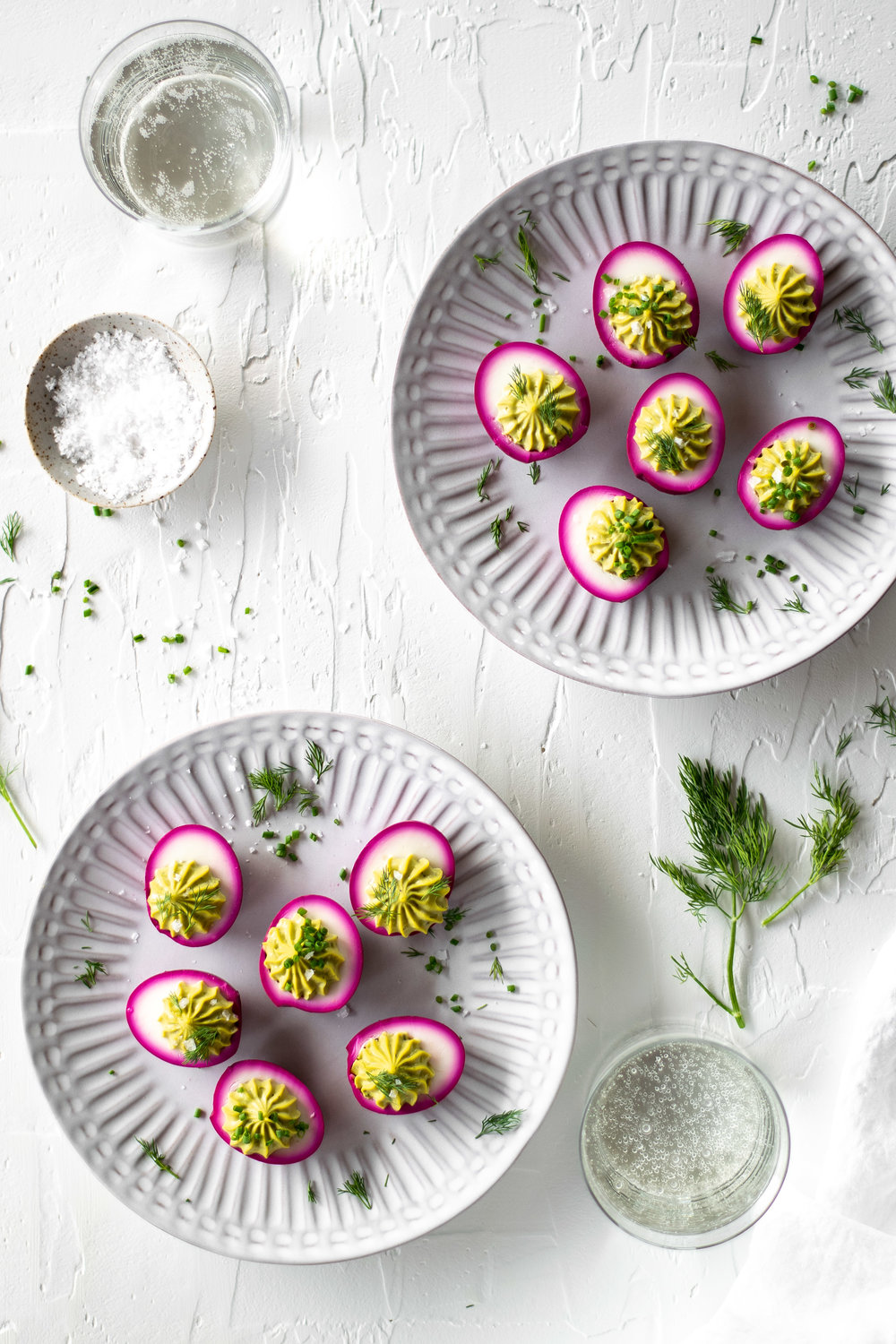 Pickled Beet + Avocado Deviled Eggs | All Purpose Flour Child
