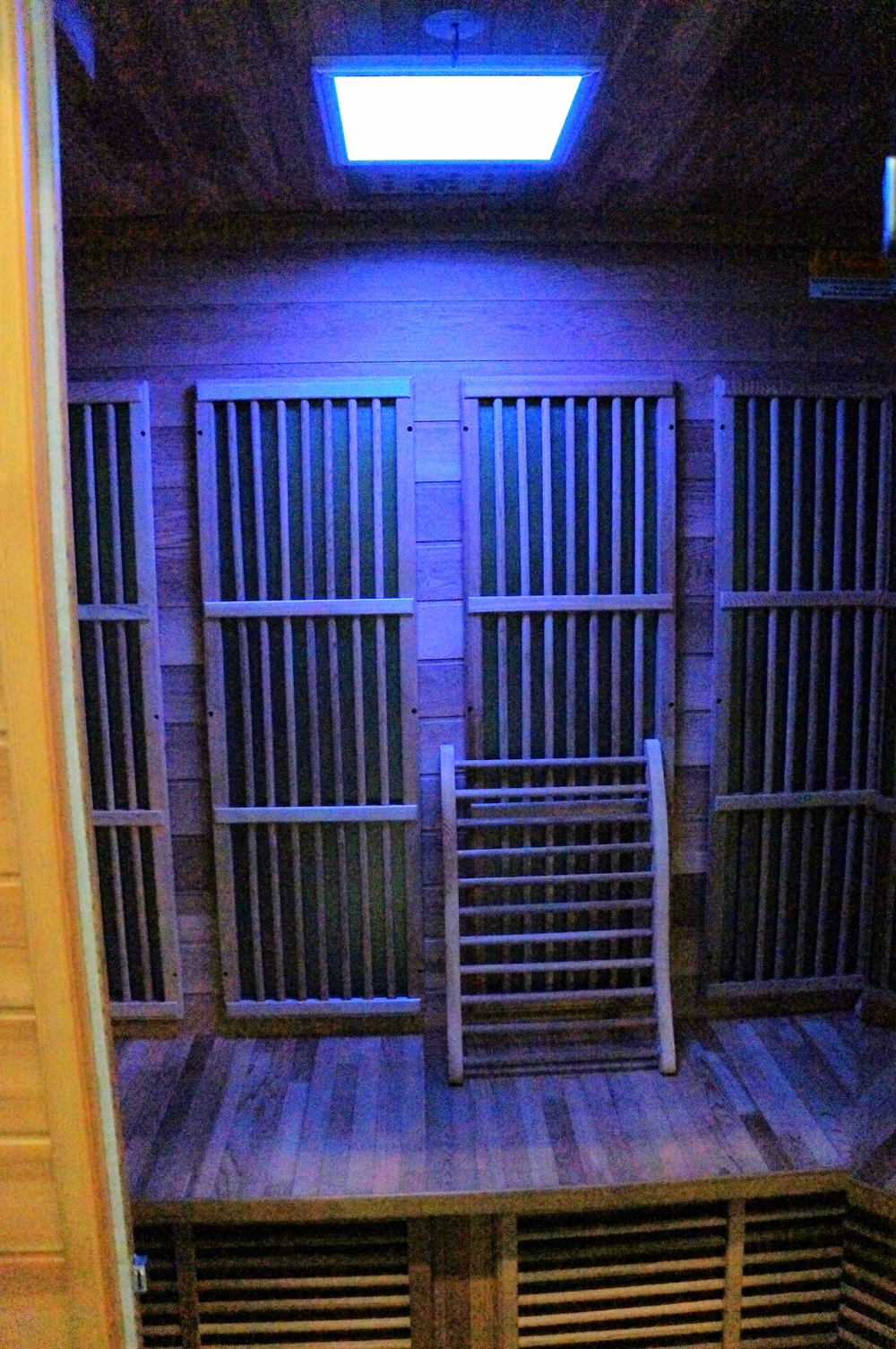 INSIDE MEN'S SAUNA