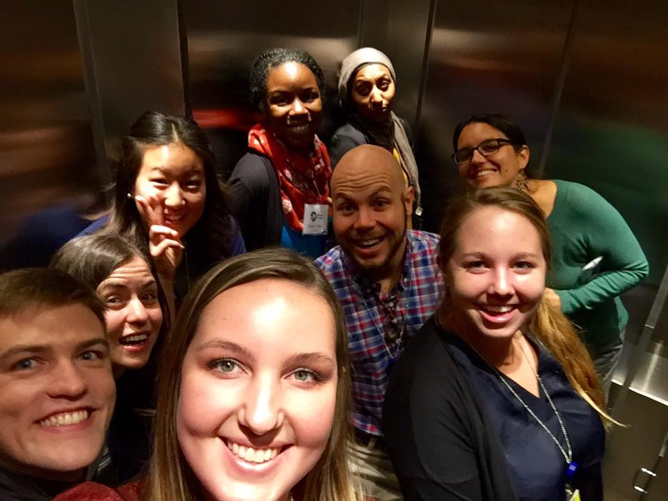 An elevator selfie, because why not?