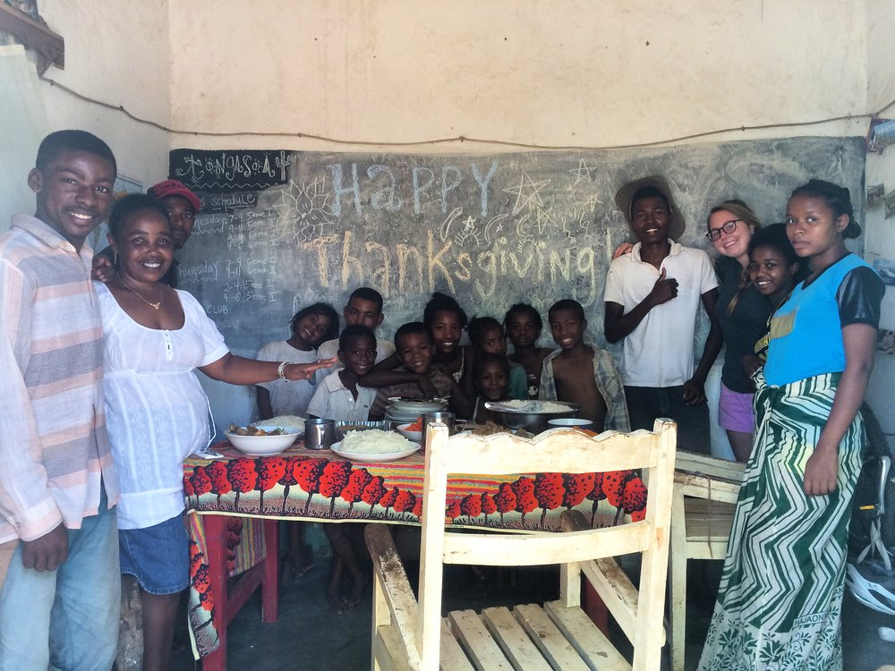Sharing Thanksgiving and American culture with my Malagasy family this year. The mashed potatoes were a hit!