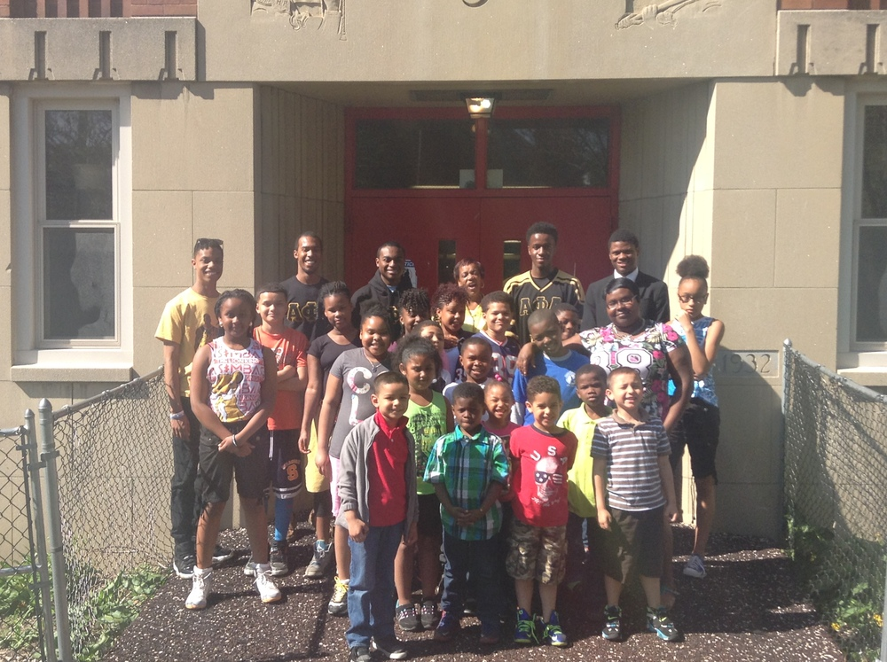 MAY 2015: SYRACUSE UNIVERSITY'S ALPHA PHI ALPHA FRATERNITY VISITS THE DETERMINATION CENTER!