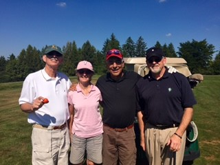 9/16/15 GOLF TOURNAMENT: THANKS FOR PLAYING, WES SKINNER, KATHLEEN BAIER, GEORGE BAIER, AND BOB GRAINGER (L TO R)!