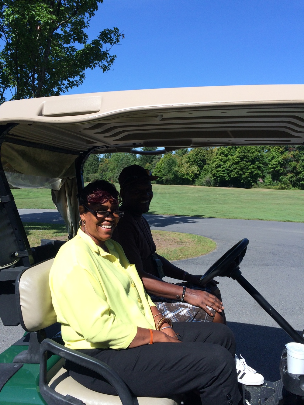 CHARLES AND BETTIE GRAHAM GREET THE GOLFERS AT CAZENOVIA GOLF CLUB ON 9/16/15