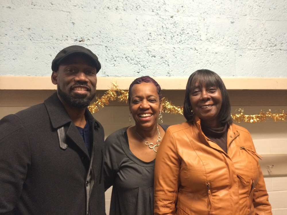 DECEMBER 2015: SYRACUSE COMMON COUNCILORS KHALID BEY (LEFT) AND HELEN HUDSON (RIGHT) WITH BETTIE GRAHAM (CENTER) AT OUR HOLIDAY FUNDRAISER. THANK YOU SO VERY MUCH, MR. BEY AND MS. HUDSON, FOR STOPPING BY!