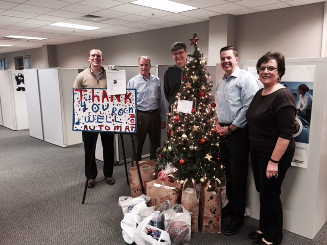 DECEMBER 2015: ROCKWELL AUTOMATION'S ROCHESTER, NY OFFICE DONATED MUCH-NEEDED SUPPLIES TO THE DETERMINATION CENTER...THANK YOU FOR YOUR GENEROSITY & KINDNESS, ROCKWELL EMPLOYEES!!