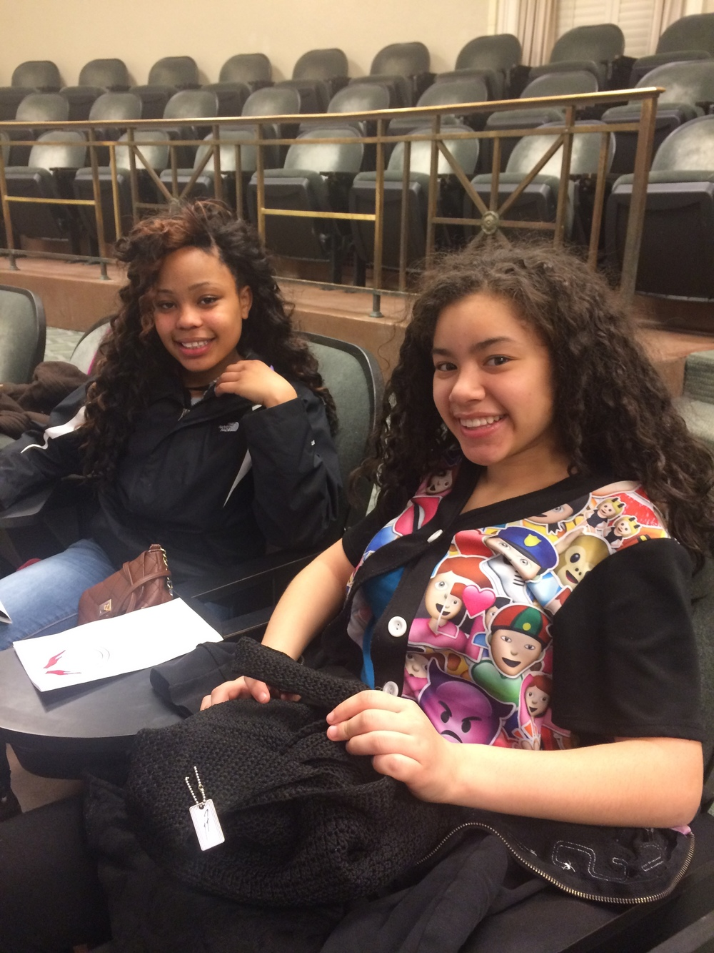DREA & JANISSA AT SYRACUSE UNIVERSITY'S MAXWELL SCHOOL--WAITING FOR MRS. GRAHAM TO RECEIVE HER SOJOURNER TRUTH AWARD!