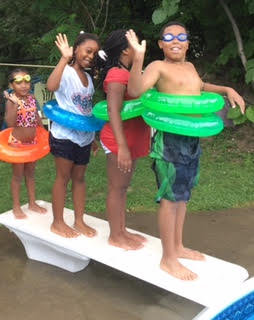 August 2016-Volunteers hosted on a great pool party!