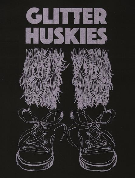 Glitter Huskies Gig Poster
