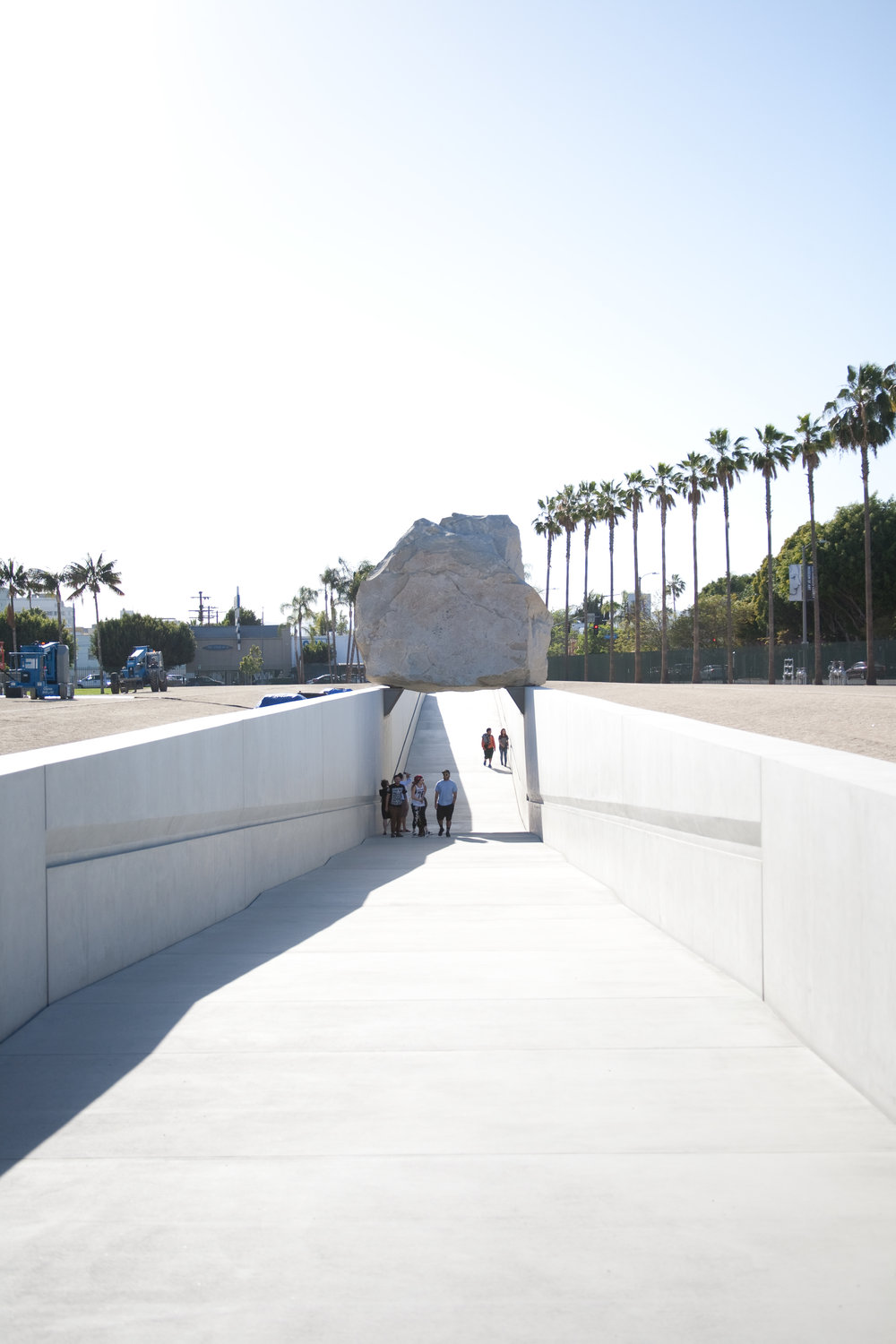 'Levitated Mass' by Michael Heizer @ LACMA / Los Angeles, CA / img cred: Kara McCulloh