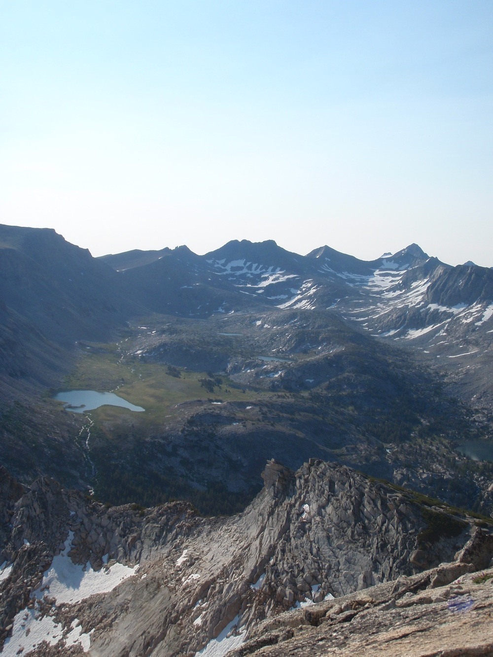 The view from just below Vogelsang Peak (11,498'), Yosemite highcountry. June 2013.