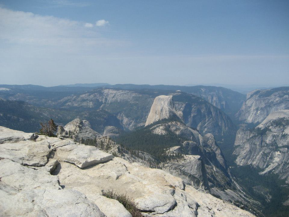 The summit of Cloud's Rest (9,931'), Yosemite Valley.  August 2012.