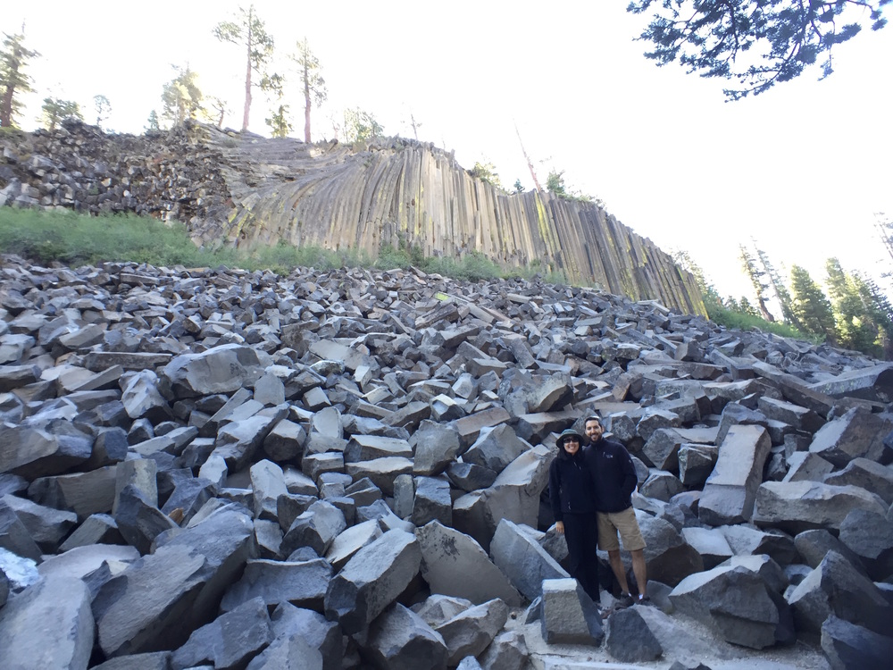 Devil's Postpile, with Alex and Kimy.