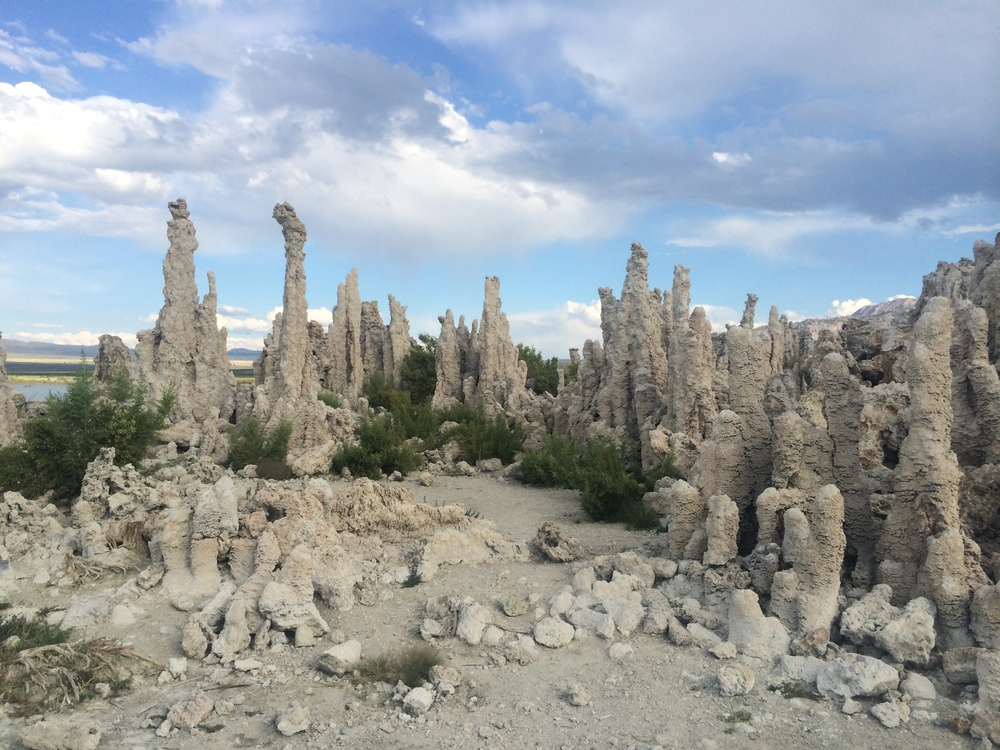 We also saw the otherworldly tufas of Mono Lake. Really work the visit.
