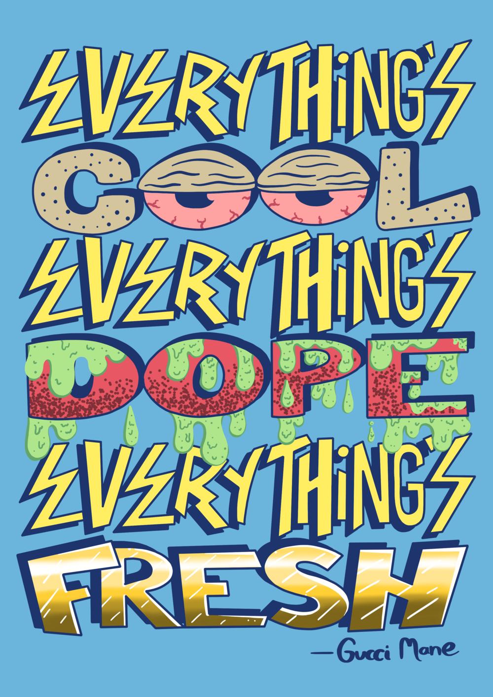 Gucci Mane Illustrated Quote